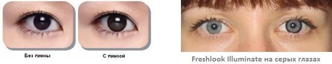 однодневные цветные контактные линзы FRESHLOOK Illuminate